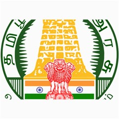 Seal of Indian State of Tamil Nadu  Canvas 24  x 36