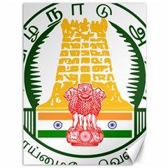 Seal of Indian State of Tamil Nadu  Canvas 36  x 48