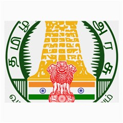 Seal of Indian State of Tamil Nadu  Large Glasses Cloth