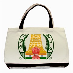 Seal of Indian State of Tamil Nadu  Basic Tote Bag (Two Sides)
