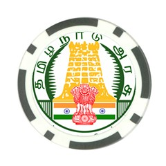 Seal of Indian State of Tamil Nadu  Poker Chip Card Guard