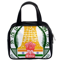 Seal of Indian State of Tamil Nadu  Classic Handbags (2 Sides)