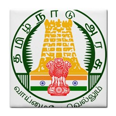Seal of Indian State of Tamil Nadu  Face Towel