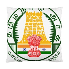 Seal of Indian State of Tamil Nadu  Standard Cushion Case (One Side)