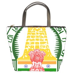 Seal of Indian State of Tamil Nadu  Bucket Bags
