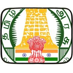 Seal of Indian State of Tamil Nadu  Fleece Blanket (Mini)