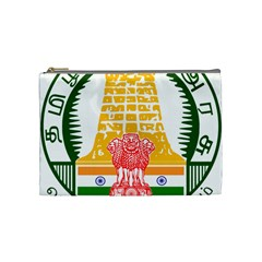 Seal of Indian State of Tamil Nadu  Cosmetic Bag (Medium)