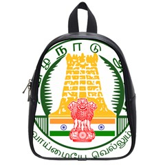 Seal of Indian State of Tamil Nadu  School Bags (Small)
