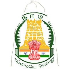 Seal of Indian State of Tamil Nadu  Full Print Aprons