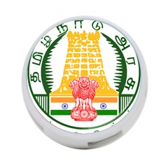 Seal of Indian State of Tamil Nadu  4-Port USB Hub (Two Sides)