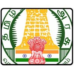 Seal of Indian State of Tamil Nadu  Fleece Blanket (Medium)