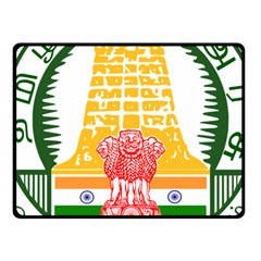 Seal of Indian State of Tamil Nadu  Fleece Blanket (Small)