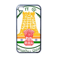 Seal of Indian State of Tamil Nadu  Apple iPhone 4 Case (Black)