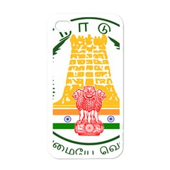 Seal of Indian State of Tamil Nadu  Apple iPhone 4 Case (White)