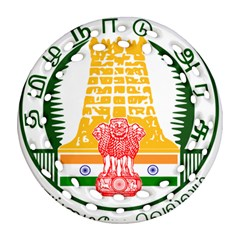 Seal of Indian State of Tamil Nadu  Ornament (Round Filigree)