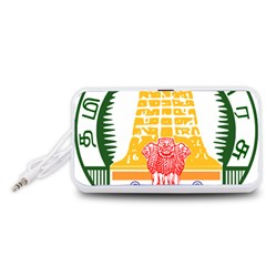 Seal of Indian State of Tamil Nadu  Portable Speaker (White)