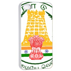 Seal of Indian State of Tamil Nadu  Apple iPhone 4/4s Seamless Case (White)