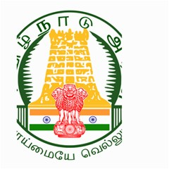 Seal of Indian State of Tamil Nadu  Small Garden Flag (Two Sides)
