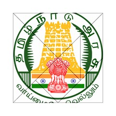 Seal of Indian State of Tamil Nadu  Acrylic Tangram Puzzle (6  x 6 )