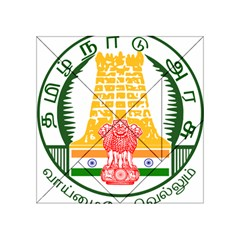 Seal of Indian State of Tamil Nadu  Acrylic Tangram Puzzle (4  x 4 )