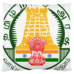 Seal of Indian State of Tamil Nadu  Large Cushion Case (Two Sides)