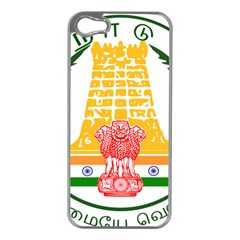 Seal of Indian State of Tamil Nadu  Apple iPhone 5 Case (Silver)