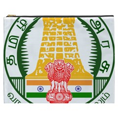 Seal of Indian State of Tamil Nadu  Cosmetic Bag (XXXL)