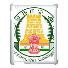 Seal of Indian State of Tamil Nadu  Apple iPad 3/4 Case (White)