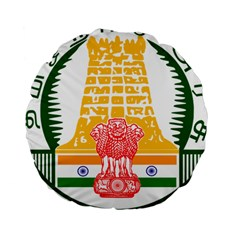 Seal of Indian State of Tamil Nadu  Standard 15  Premium Round Cushions