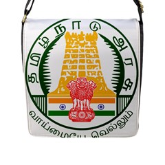 Seal of Indian State of Tamil Nadu  Flap Messenger Bag (L)