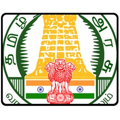 Seal of Indian State of Tamil Nadu  Double Sided Fleece Blanket (Medium)