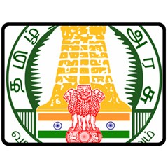 Seal of Indian State of Tamil Nadu  Double Sided Fleece Blanket (Large)