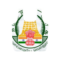 Seal of Indian State of Tamil Nadu  Full Print Recycle Bags (S)