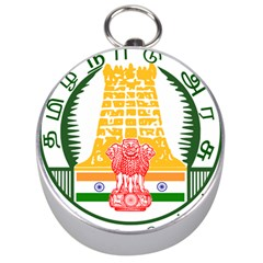 Seal of Indian State of Tamil Nadu  Silver Compasses