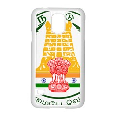 Seal of Indian State of Tamil Nadu  Samsung Galaxy S5 Case (White)