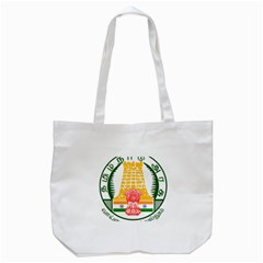 Seal of Indian State of Tamil Nadu  Tote Bag (White)