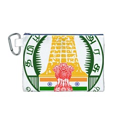 Seal of Indian State of Tamil Nadu  Canvas Cosmetic Bag (M)
