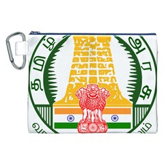 Seal of Indian State of Tamil Nadu  Canvas Cosmetic Bag (XXL)