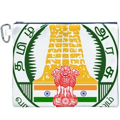Seal of Indian State of Tamil Nadu  Canvas Cosmetic Bag (XXXL)