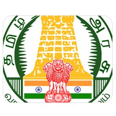 Seal of Indian State of Tamil Nadu  Double Sided Flano Blanket (Medium)