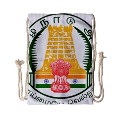 Seal of Indian State of Tamil Nadu  Drawstring Bag (Small)