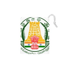 Seal of Indian State of Tamil Nadu  Drawstring Pouches (XS)