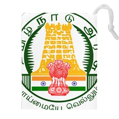 Seal of Indian State of Tamil Nadu  Drawstring Pouches (XXL)