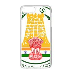 Seal of Indian State of Tamil Nadu  Apple iPhone 7 Plus White Seamless Case