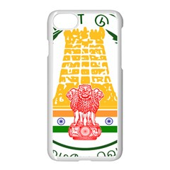 Seal of Indian State of Tamil Nadu  Apple iPhone 7 Seamless Case (White)