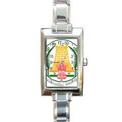 Seal of Indian State of Tamil Nadu  Rectangle Italian Charm Watch
