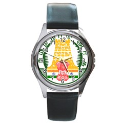 Seal of Indian State of Tamil Nadu  Round Metal Watch