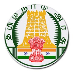 Seal of Indian State of Tamil Nadu  Round Mousepads