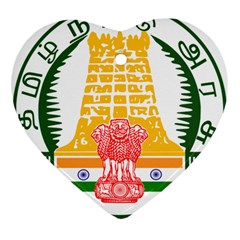 Seal of Indian State of Tamil Nadu  Ornament (Heart)