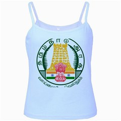 Seal of Indian State of Tamil Nadu  Baby Blue Spaghetti Tank